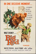 "Movie Posters:Adventure, Big Red & Others Lot (Buena Vista, 1962). Posters (3) (40"" X60""). Adventure.. ... (Total: 3 Items)"