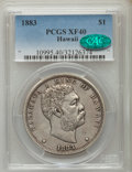 Coins of Hawaii , 1883 $1 Hawaii Dollar XF40 PCGS. CAC. PCGS Population (169/460).NGC Census: (63/293). Mintage: 46,348. ...