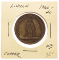 Political:Tokens & Medals, Abraham Lincoln: Founding of Wide Awakes Token....