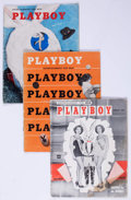 Magazines:Miscellaneous, Playboy 1954 Complete Year Group (HMH Publishing, 1954) Condition:Average GD.... (Total: 12 Items)