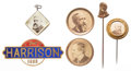 Political:Ferrotypes / Photo Badges (pre-1896), Benjamin Harrison: Six Campaign Badges....