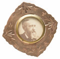Political:Ferrotypes / Photo Badges (pre-1896), Benjamin Harrison: 1888 Portrait Brooch,...