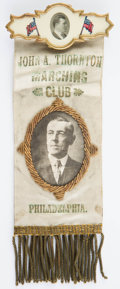 Political:Ribbons & Badges, Woodrow Wilson: Silk Portrait Badge,...
