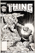 Original Comic Art:Covers, Ron Wilson and Joe Sinnott The Thing #17 Cover Original Art(Marvel, 1984)....