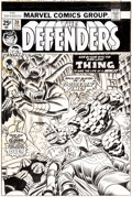 Original Comic Art:Covers, Gil Kane and John Romita Sr. Defenders #20 Cover OriginalArt (Marvel, 1975)....