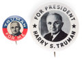 Political:Pinback Buttons (1896-present), Harry S Truman: Picture Pins....