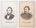 Political:Small Paper (pre-1896), Abraham Lincoln and George McClellan: Prang Cartes....