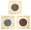 Political:Tokens & Medals, Grover Cleveland: Three Tokens....