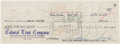 Movie/TV Memorabilia:Autographs and Signed Items, A Marilyn Monroe Signed Check, 1959....