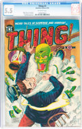 Golden Age (1938-1955):Horror, The Thing! #3 (Charlton, 1952) CGC FN- 5.5 Off-white pages....