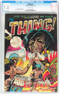 Golden Age (1938-1955):Horror, The Thing! #6 (Charlton, 1953) CGC VF- 7.5 Off-white pages....