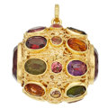 Estate Jewelry:Other , Multi-Stone, Gold Charm. ...