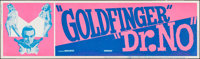 "Goldfinger/Dr. No Combo (United Artists, R-1966). Silk Screen Banner (24"" X 82""). James Bond"