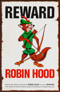 "Movie Posters:Animation, Robin Hood (Buena Vista, 1973). Promotional Wanted Poster (11"" X17"") Advance. Animation.. ..."
