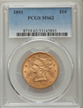 Liberty Eagles: , 1891 $10 MS62 PCGS. PCGS Population (154/57). NGC Census: (222/51). Mintage: 91,868. Numismedia Wsl. Price for problem free...