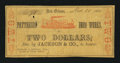Obsoletes By State:Louisiana, New Orleans, LA- Patterson Iron Works / Jackson & Co. $2 Mar. 20, 1862. ...