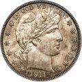 Barber Half Dollars, 1911-S/S 50C FS-501 MS66 PCGS Secure. CAC....