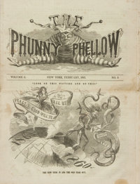 [Civil War, Illustrated Periodicals]. The Phunny Phellow, Vol. 2, No. 5. February, 1861