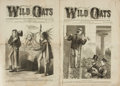 Books:Periodicals, [Illustrated Periodicals]. Two Issues of Wild Oats, Vol. V,No. 62 [and:] Vol. VI, No. 67. July - October, 1873.... (Total: 2Items)