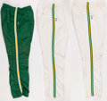 Basketball Collectibles:Uniforms, Boston Celtics Game Worn Warmup Pants Lot of 3. ...