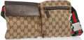 "Luxury Accessories:Accessories, Gucci Monogram Canvas Fannypack Belt Bag with Gunmetal Hardware.Excellent Condition. 12"" Width x 7"" Height x 1"" Depth, 35..."