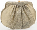 """Luxury Accessories:Accessories, Judith Leiber Metallic Gold Ring Lizard Evening Bag with GoldHardware. Very Good Condition. 7"""" Width x 5"""" Height x 1""""Dep..."""