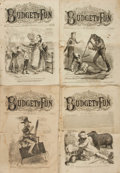 Books:Periodicals, [Civil War, Illustrated Periodicals]. Four Issues of FrankLeslie's Budget of Fun, Nos. 35, 41, 48, and 52. April,...(Total: 4 Items)