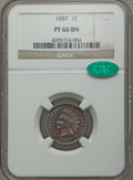 Proof Indian Cents: , 1887 1C PR66 Brown NGC. CAC. NGC Census: (20/3). PCGS Population (20/5). Mintage: 2,960. Numismedia Wsl. Price for problem ...