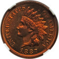 Proof Indian Cents: , 1887 1C PR66 Red and Brown NGC. NGC Census: (17/0). PCGS Population (9/1). Mintage: 2,960. Numismedia Wsl. Price for proble...