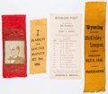 Political:Ribbons & Badges, William McKinley: Three Ribbons and Ballot....