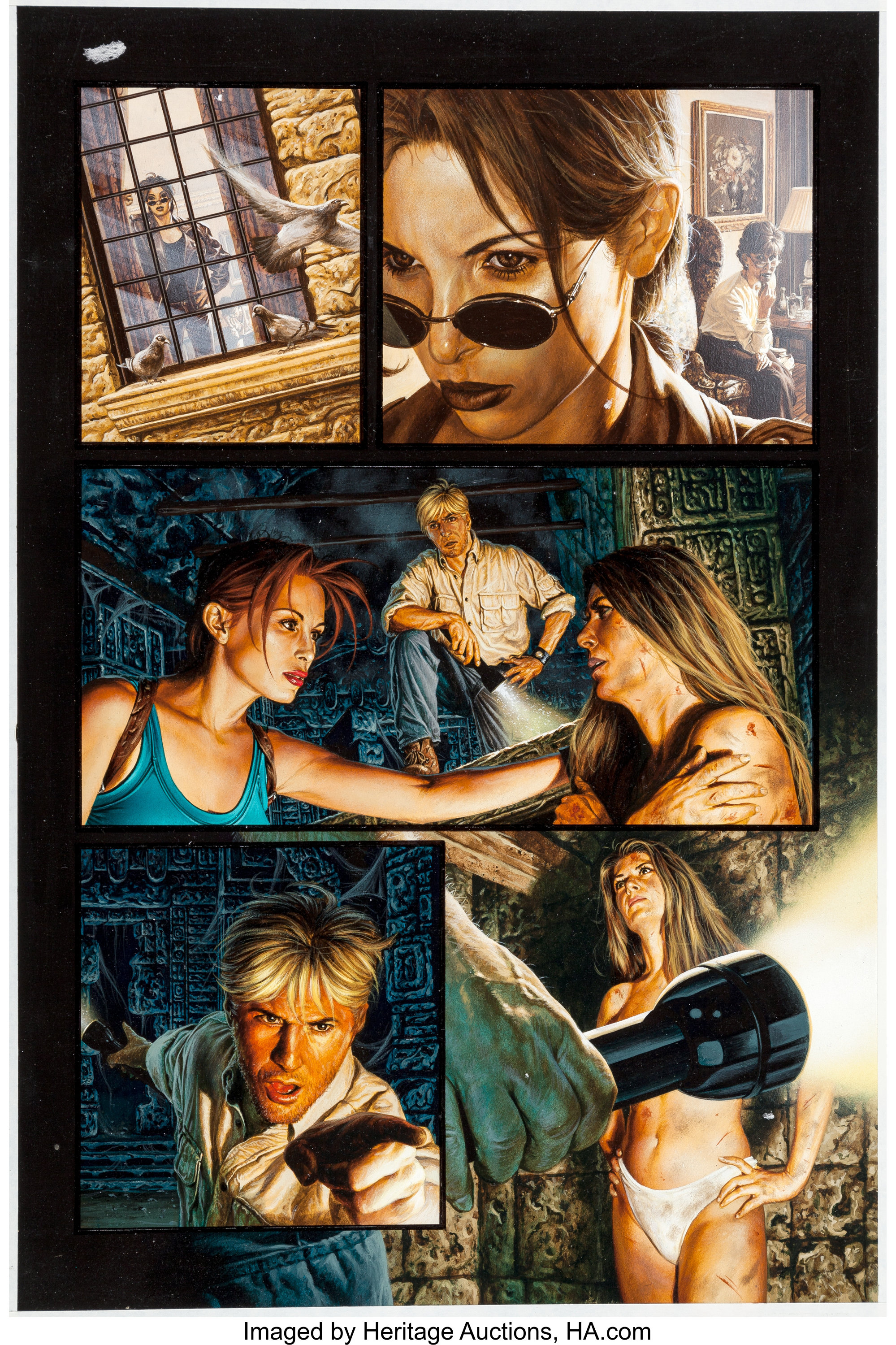 Joe Jusko Tomb Raider: The Greatest Treasure of All #1 Page 26 | Lot