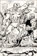 Original Comic Art:Splash Pages, Ron Wilson and Joe Sinnott The Thing #17 Splash Page 6Original Art (Marvel, 1984)....