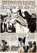 Original Comic Art:Splash Pages, Mort Meskin Headline Comics #43 Splash Page 40 Original Art(Prize, 1950)....