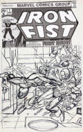 Original Comic Art:Miscellaneous, Gil Kane Iron Fist #1 Preliminary Cover Artwork (Marvel,1975)....