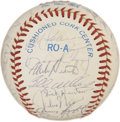 Autographs:Baseballs, 1986 Oakland Athletics Team Signed Baseball. The offered OAL(MacPhail) baseball brandishes the signatures of the 1983 Oak...