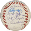Autographs:Baseballs, 1983 Angels Team Signed Baseball. The offered OAL (MacPhail)baseball supports the signatures of many of the 1983 Angels te...