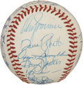 Autographs:Baseballs, 1983 New York Yankees Team Signed Baseball. The 1983 New YorkYankees, led by Billy Martin as manager, could fair no better...