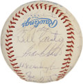 Autographs:Baseballs, 1983 Kansas City Royals Team Signed Baseball. The team fielded bythe 1983 Kansas City Royals added signatures to the OAL (...