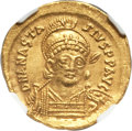 Ancients:Byzantine, Ancients: Anastasius I (AD 491-518). AV solidus (22mm, 4.47 gm,6h)....