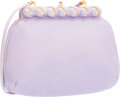 """Luxury Accessories:Bags, Judith Leiber Purple Karung Evening Bag with Architectural FrameClasp. Good to Very Good Condition. 9"""" Width x 6.5""""H..."""