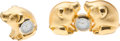 "Luxury Accessories:Home, Judith Leiber Set of Two; Gold Pig Desk Clocks. Very Good toExcellent Condition. 4.5"" Width x 2.25"" Height x 0.75"" De...(Total: 2 Items)"