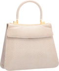 "Luxury Accessories:Bags, Judith Leiber Gray Lizard Top Handle Bag. Very GoodCondition. 10"" Width x 8"" Height x 2.5"" Depth. ..."