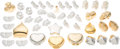 Luxury Accessories:Accessories, Judith Leiber Set of Unfinished Gold & Silver Pillboxes. Very Good Condition. ... (Total: 42 Items)