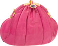 "Luxury Accessories:Bags, Judith Leiber Pink Karung Evening Bag. Good to Very Good Condition. 11"" Width x 8"" Height x 2.5"" Depth. ..."