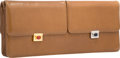 """Luxury Accessories:Bags, Judith Leiber Brown Leather Clutch Bag with Gold and SilverHardware . Very Good Condition. 14.5"""" Width x 6"""" Height x..."""