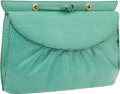 "Luxury Accessories:Bags, Judith Leiber Mint Lizard Shoulder Bag. Good to Very Good Condition. 8"" Width x 5"" Height x 1.25"" Depth. ..."