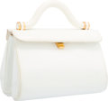 "Luxury Accessories:Bags, Judith Leiber White Patent Leather Top Handle Bag. GoodCondition. 7.5"" Width x 5.5"" Height x 4.5"" Depth. ..."