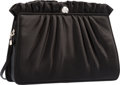 "Luxury Accessories:Bags, Judith Leiber Black Ruched Satin Evening Bag. ExcellentCondition. 9"" Width x 6"" Height x 2.5"" Depth. ..."