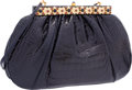 "Luxury Accessories:Bags, Judith Leiber Shiny Navy Blue Alligator Evening Bag. ExcellentCondition. 10.5"" Width x 6.5"" Height x 2"" Depth. ..."