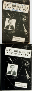 Books:Reference & Bibliography, William F. Nolan, editor. Ray Bradbury, subject. TwoSIGNED/INSCRIBED Editions of Ray Bradbury Review.Includes:... (Total: 2 Items)